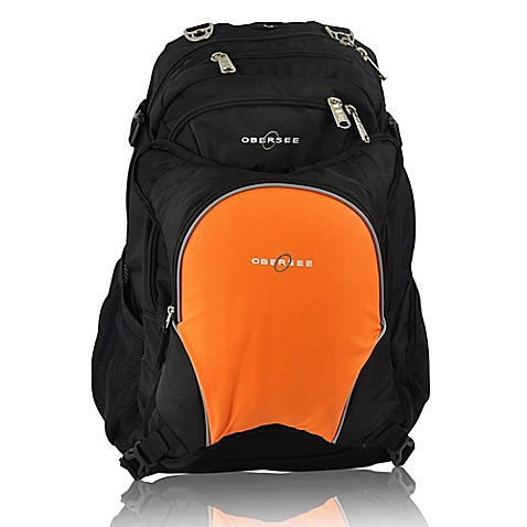 buy obersee bern diaper bag backpack with detachable cooler in orange from bed bath beyond. Black Bedroom Furniture Sets. Home Design Ideas