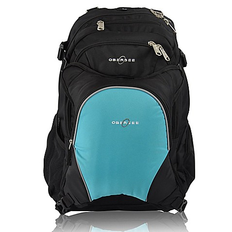 obersee bern diaper bag backpack with detachable cooler in turquoise buybuy baby. Black Bedroom Furniture Sets. Home Design Ideas