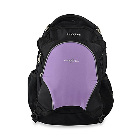 buy obersee oslo diaper bag backpack with detachable cooler in black purple from bed bath beyond. Black Bedroom Furniture Sets. Home Design Ideas