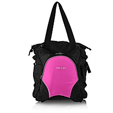 image of Obersee Innsbruck Diaper Bag Tote with Detachable Cooler in Black/Pink