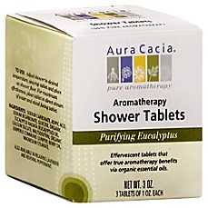 image of Aura Cacia® 3 oz. Purifying Aromatherapy Shower Tablets in Eucalyptus