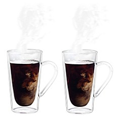 image of Luigi Bormioli Thermic Borosilicate Double-Wall Coffee/Tea Mugs (Set of 2)