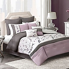 image of Blossom 8-Piece Comforter Set in Plum