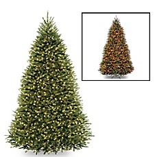image of national tree company dunhill fir pre lit christmas tree with dual color - Pre Lit Christmas Trees