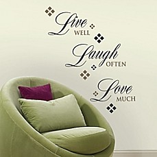 image of RoomMates Live Love Laugh Quote Wall Decals