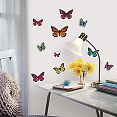 image of RoomMates 3D Butterflies Peel & Stick Wall Decals
