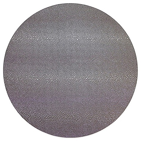 Reptile Hard Back Faux Leather Placemat In Nickel