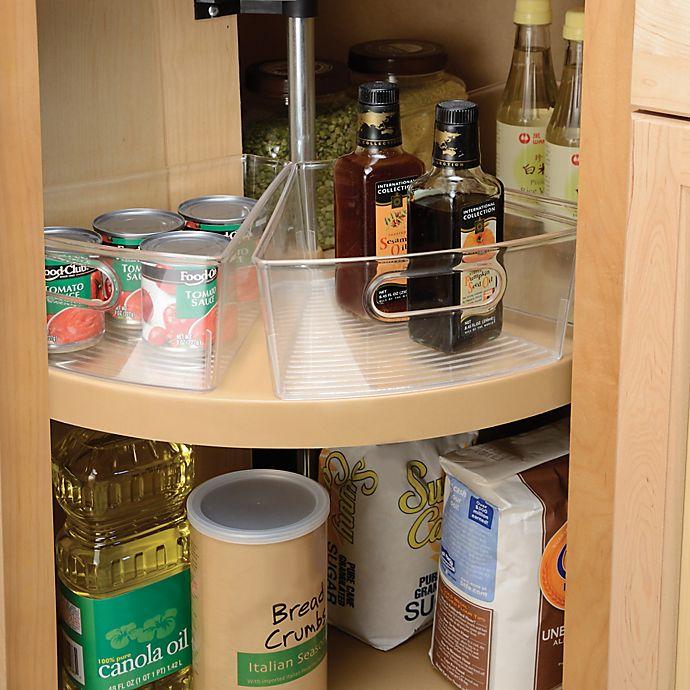 Idesign Cabinet Binz Lazy Susan Eighth Wedge Storage Bin Bed Bath Beyond