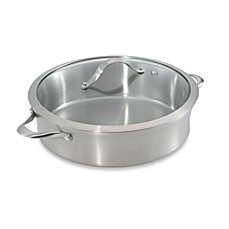 image of Calphalon® Contemporary Stainless Steel 5-Quart Sauteuse & Cover