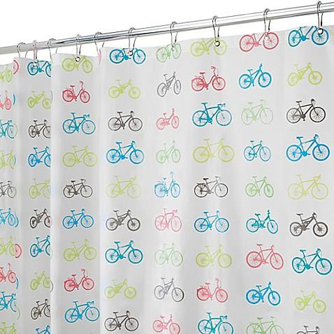 Delightful InterDesignu0026reg; PEVA Bike Shower Curtain