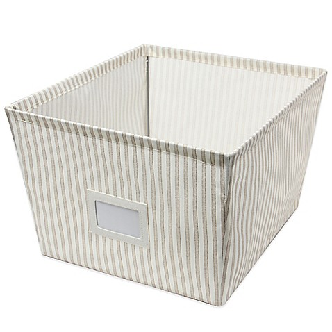 Buy Large Canvas Storage Bin In Stripe From Bed Bath Amp Beyond