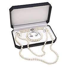 image of Sterling Silver Freshwater Cultured Pearl 4-Piece Jewelry Set