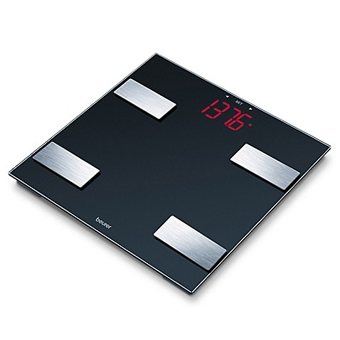 beurer glass digital body analysis bathroom scale - bed bath & beyond