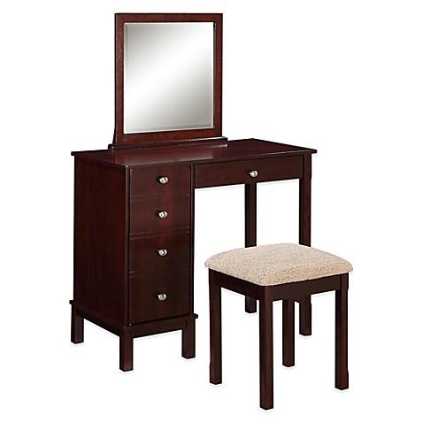 linon home julia vanity and bench set
