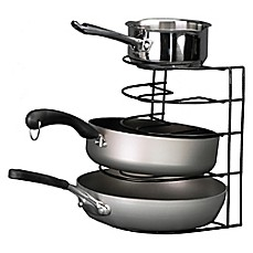 image of Grayline Pot and Pan Organizer Rack in Black