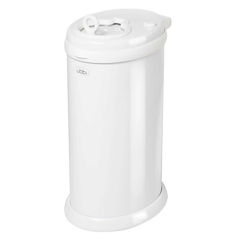 Ubbi® Diaper Pail in White