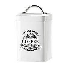 image of global amici vintage home coffee canister in white global amici   bed bath  u0026 beyond  rh   bedbathandbeyond