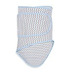 image of Miracle Blanket® Chevron Swaddle in Blue/Grey