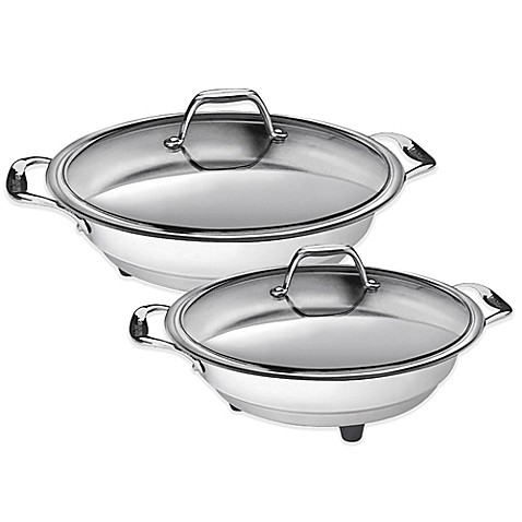 cucinapro stainless steel interior electric skillet bed bath beyond
