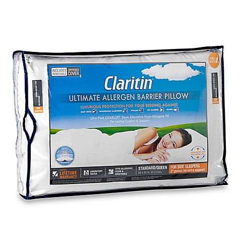 claritin ultimate allergen barrier clearloft embossed side sleeper rh bedbathandbeyond com