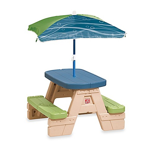 Step2® Sit & Play Picnic Table with Umbrella - Bed Bath & Beyond