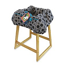 image of Boppy® Shopping Cart Cover in City Squares Black/White