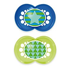 image of MAM Trends 6M+ 2-Pack Pacifiers in Blue