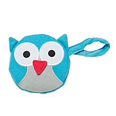 image of J.L. Childress Owl Pacifier Pal Pacifier Pocket in Teal
