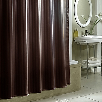 Exceptional Damask Stripe Fabric Shower Curtain Liner