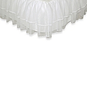image of Tadpoles™ by Sleeping Partners Tulle Triple Layer Full Bed Skirt in White
