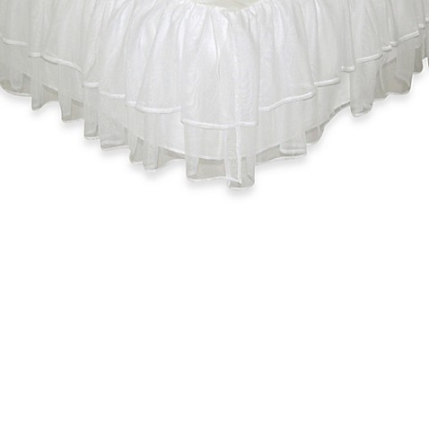 Tadpoles™ by Sleeping Partners Tulle Triple Layer Full Bed Skirt in White