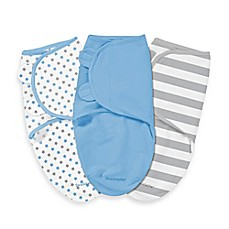 image of SwaddleMe® Original Swaddle Small/Medium 3-Pack Blue Stars and Stripes