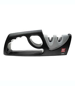 Afilador manual de cuchillos Zwilling® J.A. Henckels, de 2 etapas color gris/negro