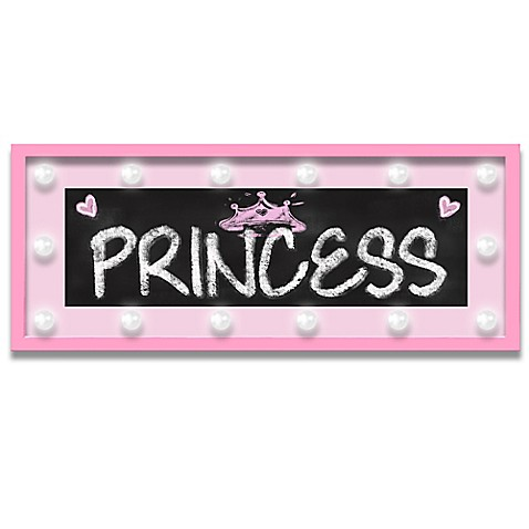 Design House La Framed Quot Princess Quot Light Up Sign In Pink