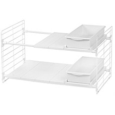 image of IRIS USA Double-Tier Expandable Under-Sink Organizer
