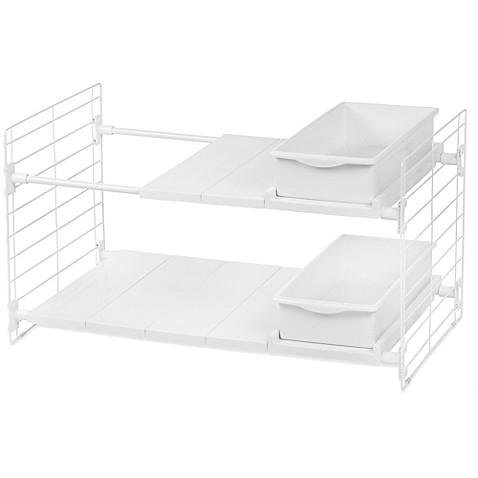 IRISu0026reg; Double Tier Expandable Under Sink Organizer