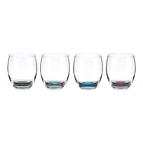 Dkny lenox urban essentials barware stemless wine glasses set of 4 bed bath beyond - Lenox stemless red wine glasses ...