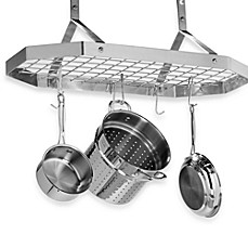 image of Cuisinart® Brushed Stainless Steel Octagonal Hanging Pot Rack
