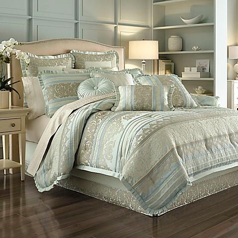 J Queen New York Marcello Comforter Set In Ivory