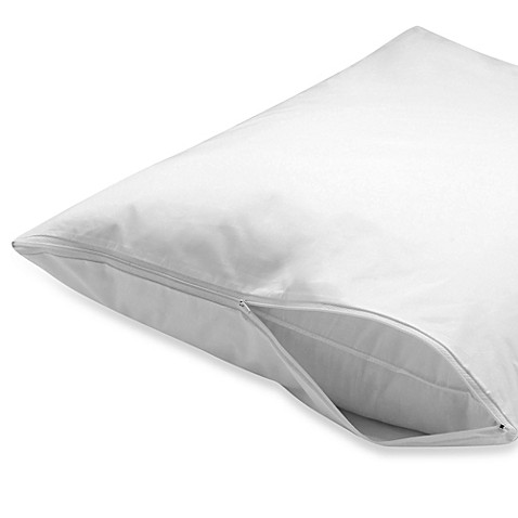 Zippered 100 Cotton Pillow Protector Set Of 2