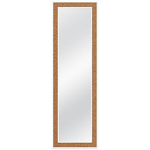 door solutions over the door 12 inch x 48 inch cork mirror in white bed bath beyond. Black Bedroom Furniture Sets. Home Design Ideas