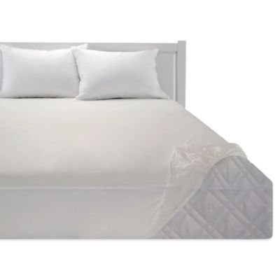 Bedding Essentials Vinyl Fitted Mattress Protector Bed