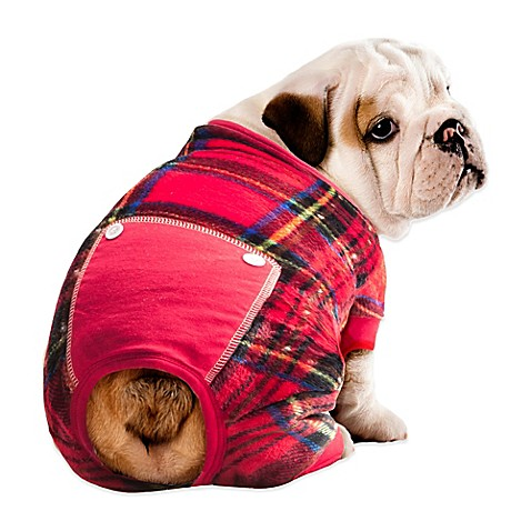 Pawslife™ Plaid Pet Pajamain Red - Bed Bath & Beyond