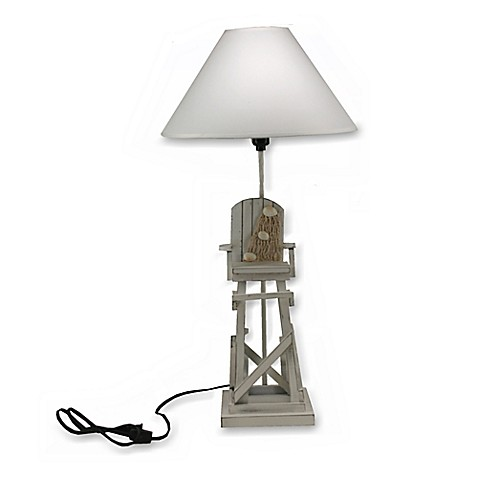 buy lifeguard chair table lamp in grey from bed bath beyond. Black Bedroom Furniture Sets. Home Design Ideas
