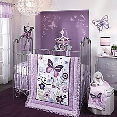 image of Lambs & Ivy Butterfly Lane Crib Bedding Collection