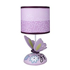 image of Lambs & Ivy® Butterfly Lane Lamp Base with Shade
