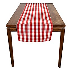 image of Riegel® Red Check Table Runner