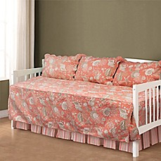image of Natural Shells Daybed Bedding Set in Coral