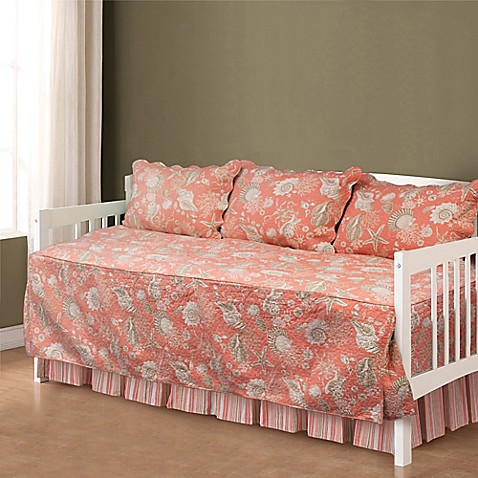 natural shells daybed bedding set in coral bed bath beyond