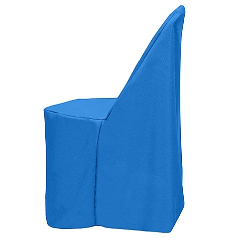 Buy Basic Polyester Cover For Plastic Folding Chair In Cobalt From Bed Bath